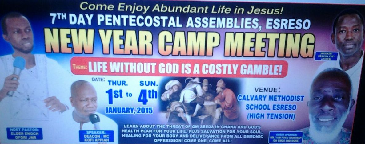 Special Invitation to New Year Camp Meeting